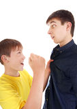 Kid threaten Teenager Royalty Free Stock Photos