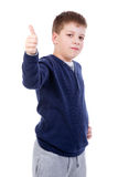 Kid thumb up Stock Photo