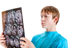Kid with Tomography Stock Photography