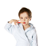 Kid with tooth brush Royalty Free Stock Photo