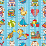 Kid toy seamless pattern. Design element for postcard, banner, flyer Royalty Free Stock Photography