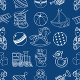Kid toy seamless pattern. Design element for postcard, banner, flyer, poster or print Stock Photo