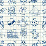 Kid toy seamless pattern. Stock Photography