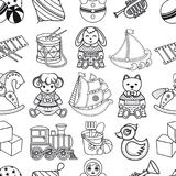 Kid toy seamless pattern. Design element for postcard, banner, flyer, poster or print Stock Image