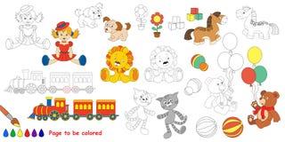 Kid toys. Big coloring book. Royalty Free Stock Photo