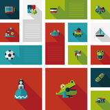 Kid toys flat app ui background,eps10 Stock Image