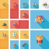 Kid toys flat app ui background,eps10 Stock Photos