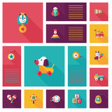 Kid toys flat app ui background,eps10 Stock Images