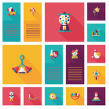 Kid toys flat app ui background,eps10 Royalty Free Stock Photo