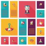 Kid toys flat app ui background,eps10 Royalty Free Stock Photo