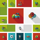 Kid toys flat ui background,eps10 Stock Photos