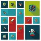 Kid toys flat ui background,eps10 Royalty Free Stock Photo