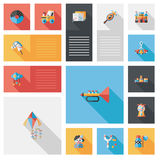 Kid toys flat ui background,eps10 Royalty Free Stock Photos