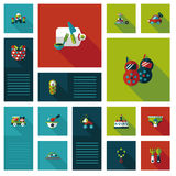 Kid toys flat ui background,eps10 Royalty Free Stock Photography