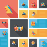 Kid Toys Flat Ui Background,eps10 Royalty Free Stock Photos
