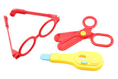Kid toys medical equipment tool set isilated stock image