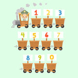 Kid Train with Numbers Stock Image