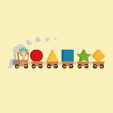 Kid Train with Shapes Stock Photo