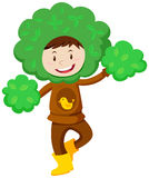Kid in tree costume Royalty Free Stock Photos