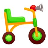 Kid tricycle icon, cartoon style royalty free illustration