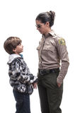 Kid in trouble Stock Images