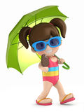 Kid with umbrella Stock Photos