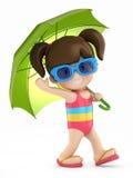 Kid with umbrella Stock Photos