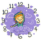 Kid using his arm as Hand Clock for Bedtime Royalty Free Stock Image