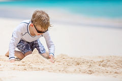 Kid at vacation Stock Image