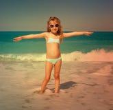Kid at vacations on sea Stock Image