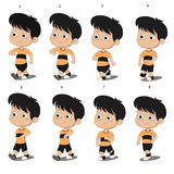 Kid walkcycle animation. Vector and illustration Stock Photos
