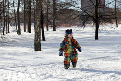 Kid walking in park Stock Photography