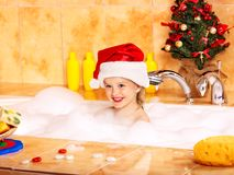 Free Kid Washing In Bath. Stock Photography - 27849812