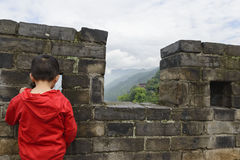 Kid watching landscape  Stock Photos