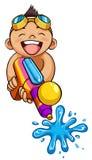 Kid and water gun Stock Photography