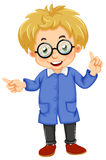 A kid wearing glasses Stock Images