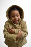 Kid wearing hood Stock Photo