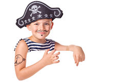 The kid wearing in pirate costume Royalty Free Stock Image