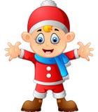 Kid wearing santa costume Royalty Free Stock Images
