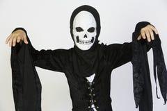 Kid Wearing Skeleton Costume Royalty Free Stock Photography