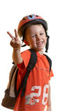 Kid wearing in sport clothing Royalty Free Stock Photography
