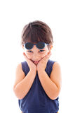 Kid wearing sunglasses Royalty Free Stock Images