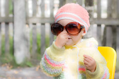 Kid wearing sunglasses Royalty Free Stock Image