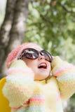 Kid wearing sunglasses Stock Photos