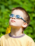 Kid wearing sunglasses Royalty Free Stock Photo