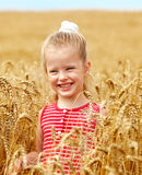 Kid in wheat field. Stock Photography