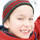 Kid in Winter Royalty Free Stock Photography