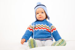 Kid in Winter-Clothes Royalty Free Stock Photography