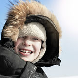 Kid in Winter Stock Photos