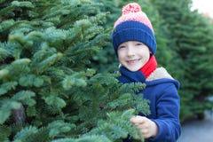 Kid at winter Stock Photo